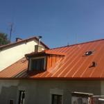 Rekonstrukce střechy, ve Vyšším Brodě